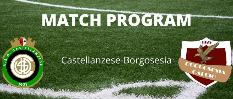 Il match program di Castellanzese-Borgosesia